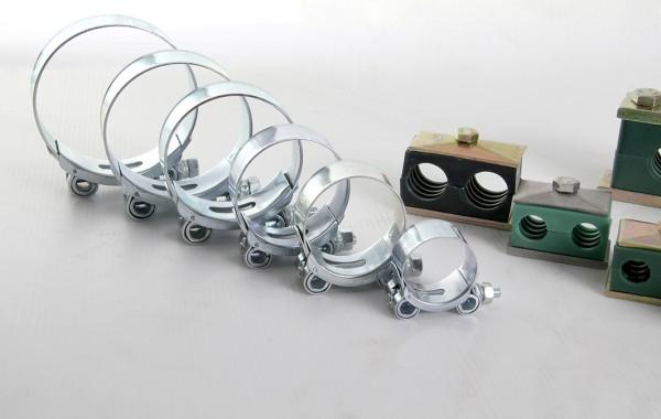 Collier de fixation  /  Tube hydraulique électrozingué